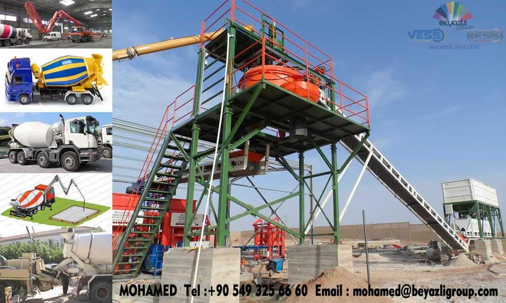 Plateforme Malaxeur de la Machine Parpaing Machine Pave Machine Bordure et des centrales a béton